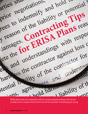 Contracting Tips for ERISA Plans